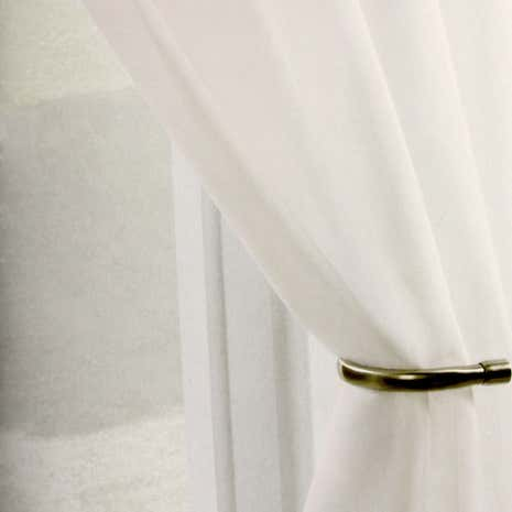 Ivory Sheer Elegance Voile Panel