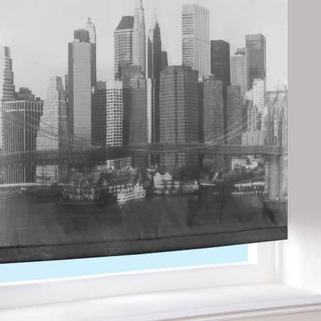 monchrome new york blackout roller blind. Black Bedroom Furniture Sets. Home Design Ideas