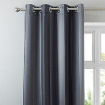 Monaco Pewter Lined Eyelet Curtains