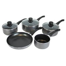 Cookshop 5 Piece Aluminium Pan Set