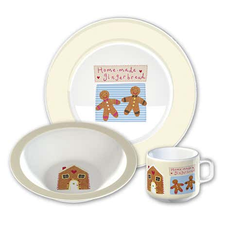 Kids Gingerbread Man Melamine Set