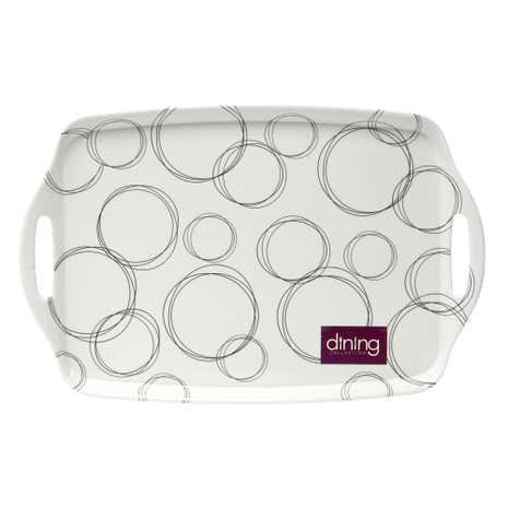 Ellipse White Tea Tray