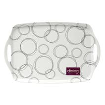 White Ellipse Tea Tray