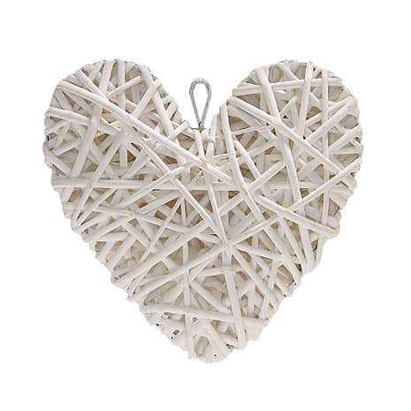 Classic Elegance Wicker Hanging Heart