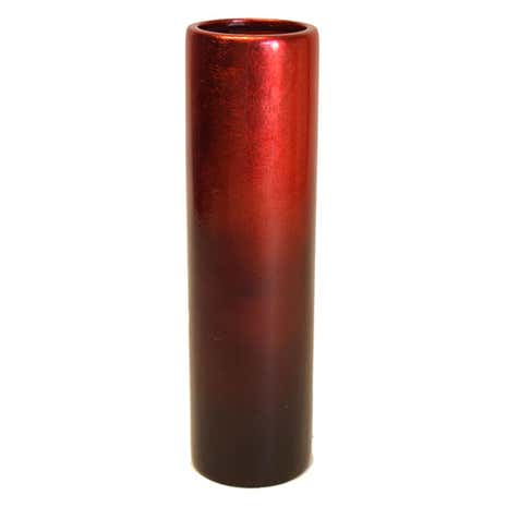 Ruby Tonal Lacquered Cylinder Vase