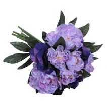 Artificial Purple Peony and Eustoma Bouquet
