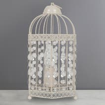 Cream Birdcage Table Lamp