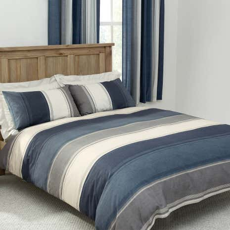 Blue Finley Duvet Cover Set