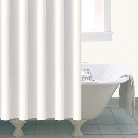 Essentials White Peva Shower Curtain