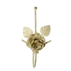 Vintage Single Rose and Petals Curtain Hook