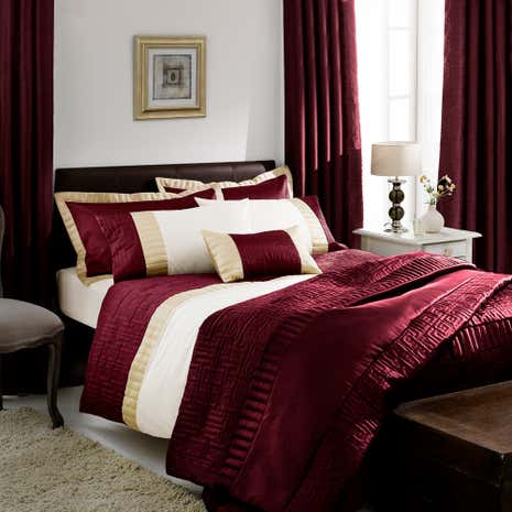 Red Athens Duvet Cover