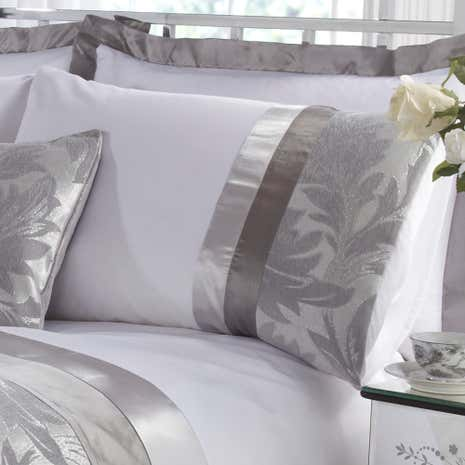 Silver Roma Damask Housewife Pillowcase