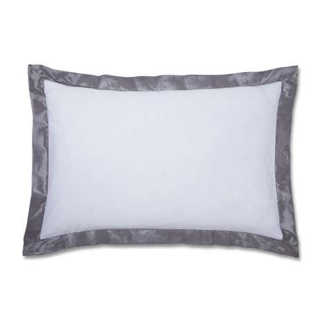 Silver Roma Damask Oxford Pillowcase