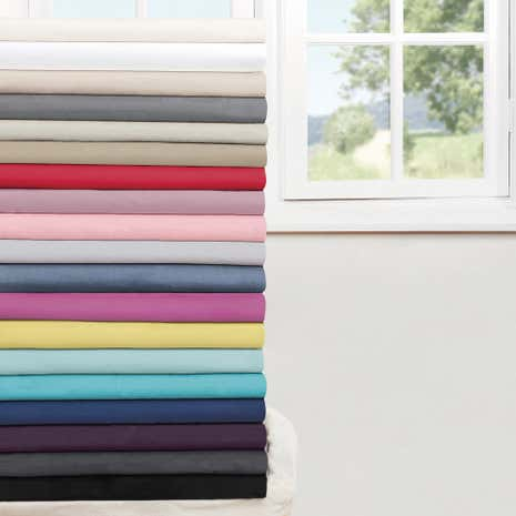 Non Iron Plain Dye 25cm 3/4 Fitted Sheet