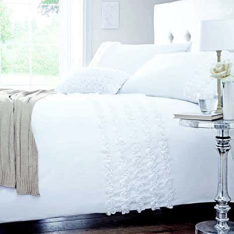 Rosalie White Duvet Cover Set