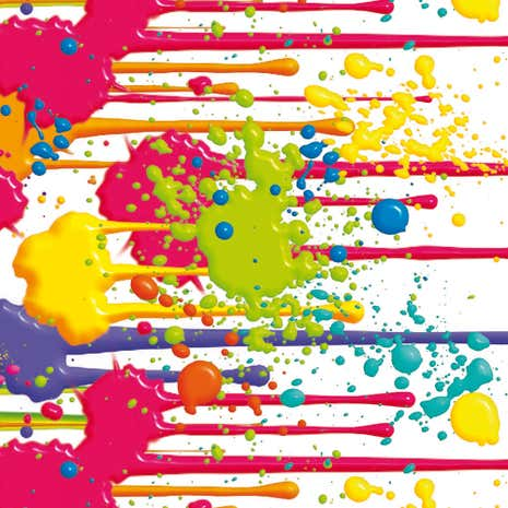 Paint Splats Printed PVC Fabric