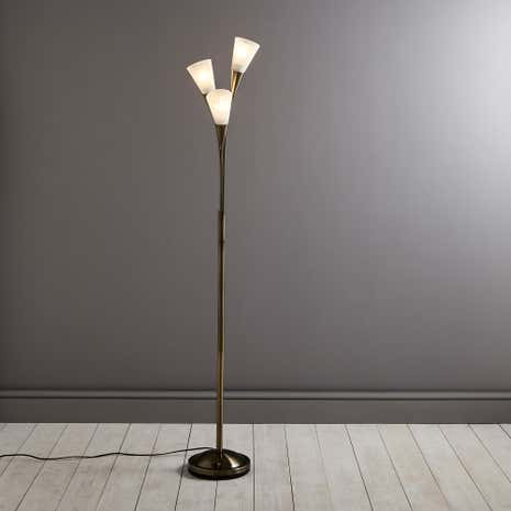 Antique Marble Glass Floor Lamp
