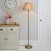 Reeded Brass Floor Lamp