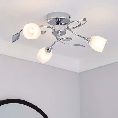 Swirl 3 Light Ceiling Fitting