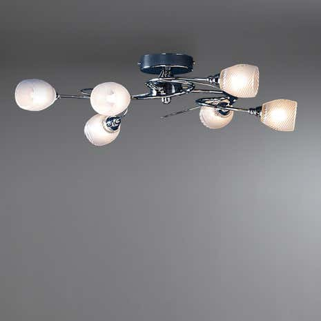 Swirl 6-Light Ceiling Fitting