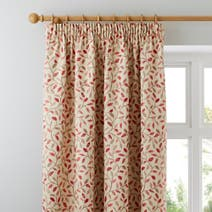 Heritage Terracotta Glava Lined Pencil Pleat Curtains