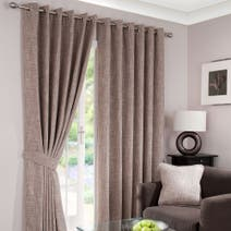 Lorenza Mink Lined Eyelet Curtains