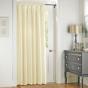Toledo Cream Thermal Door Curtain
