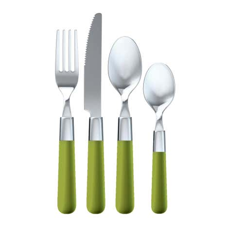 Brit Pop Green 16 Piece Cutlery Set