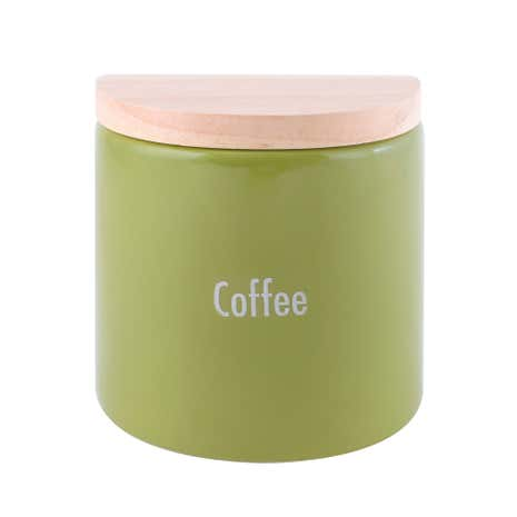 Modern Country Leaf Coffee Jar