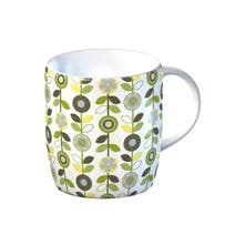 Modern Country Leaf Flowers Mug