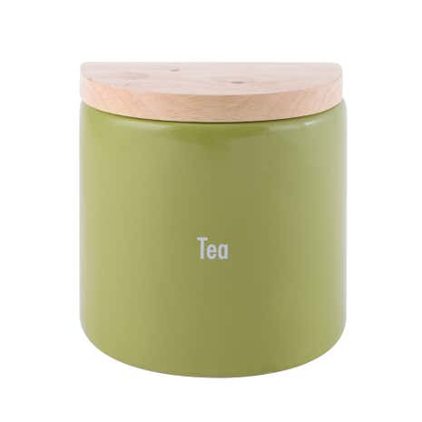 Modern Country Leaf Tea Jar