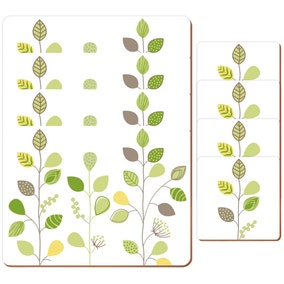 Modern Country Leaf Placemats and Coasters