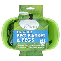 EcoForce Recycled Peg Basket with Pegs