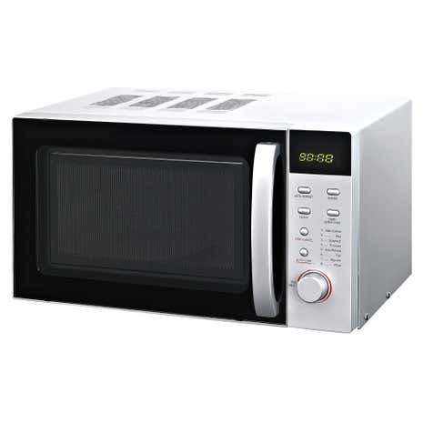 Silver Digital Microwave