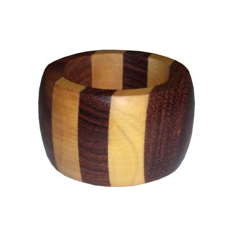 Striped Wooden Napkin Ring