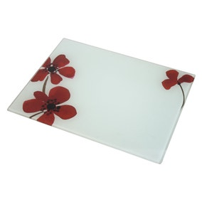 Red Painted Poppy Work Top Saver