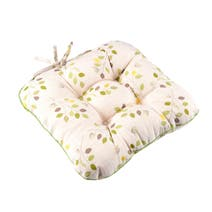 Green Modern Country Leaf Seat Pad