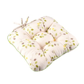 Country Modern Green Leaf Seat Pad