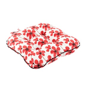 Red Painted Poppy Seat Pad