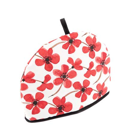 Red Painted Poppy Tea Cosy