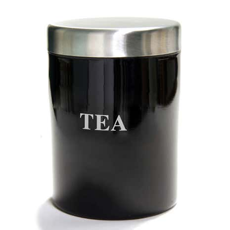 Black Spectrum Tea Canister