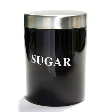 Black Spectrum Sugar Canister