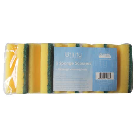 Utility Room Pack of 5 Sponge Scourers