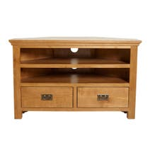 Dorchester Oak Corner TV Stand