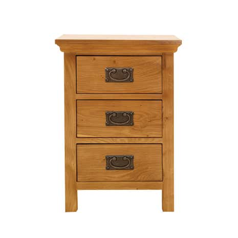 Dorchester Oak 3 Drawer Bedside Table