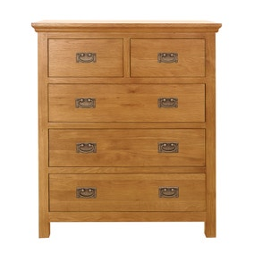 Dorchester Oak 5 Drawer Chest