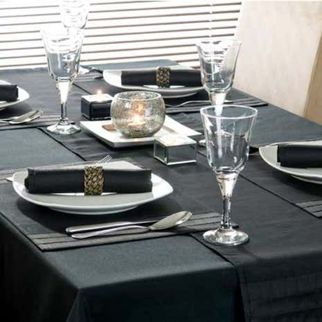 Black Spectrum Round Tablecloth