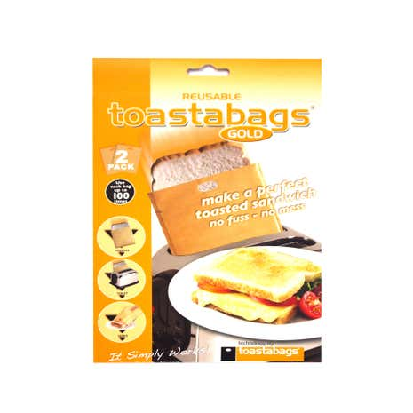 Pack of 2 Gold Toastabags