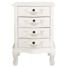 Toulouse White 4 Drawer Chest
