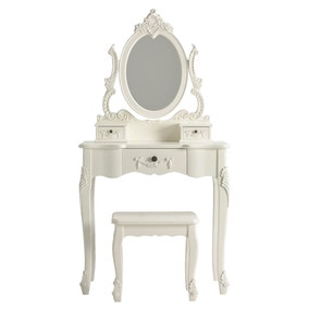 Toulouse White Dressing Table Set
